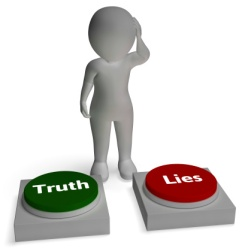 Truth Lies Buttons Shows Honest Or Dishonesty