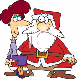 0511-1011-0403-3838_cartoon_of_a_grown_woman_sitting_on_santas_lap_clipart_image